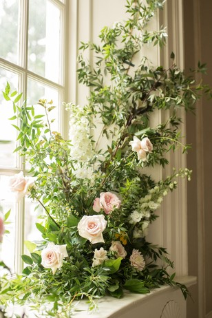 overgrown garden floral decor