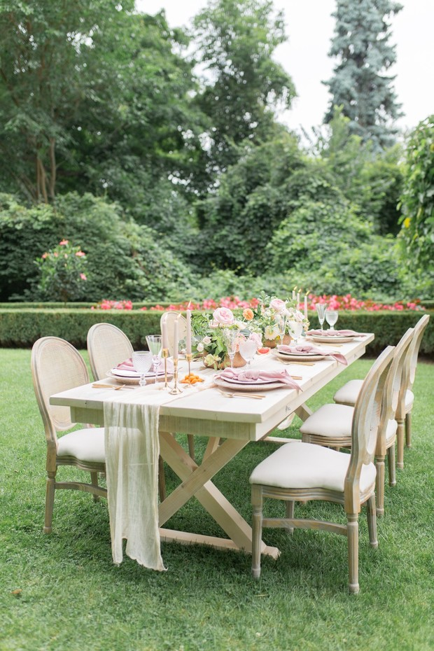 romantic garden wedding reception idea