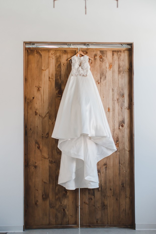 wedding dress from Luxe Bridal Rack