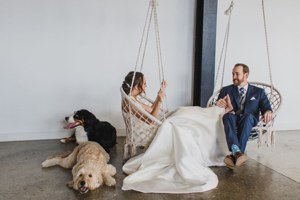 macrame wedding swings