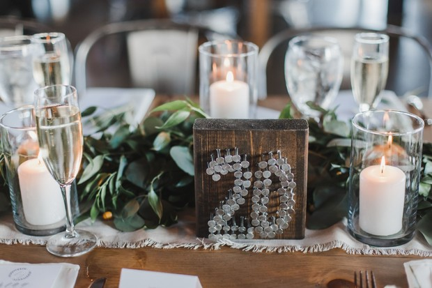 industrial inspired table number