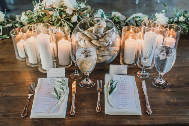 sweetheart table decor for your boho industrial wedding