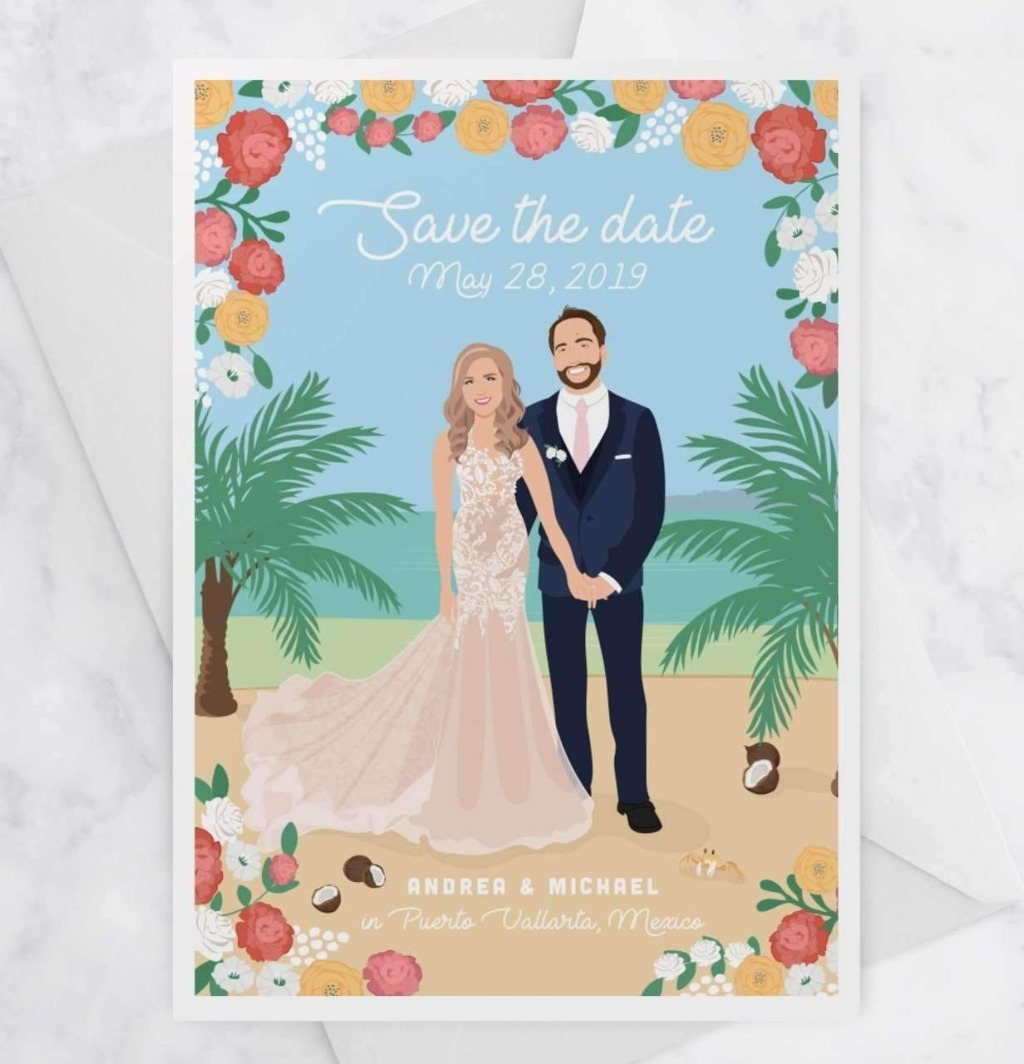 We love a good destination wedding, and these Destination Wedding Save the Date Cards are the perfect way to let your guests know about
