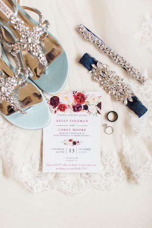 wedding invitations with floral accents