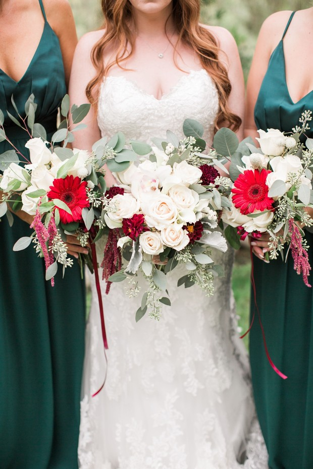 Emerald Green and Burgundy October DIY Wedding