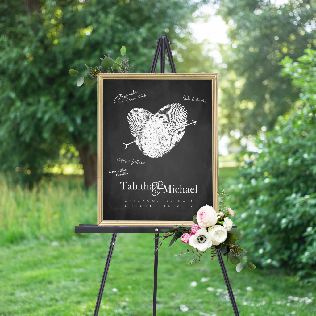 Stand out from the crowd with something unique! This guest book is made with your fingerprints! Work with Flutterbye Prints to design