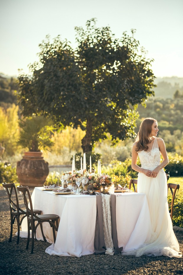 harvest inspired wedding in Tuscany