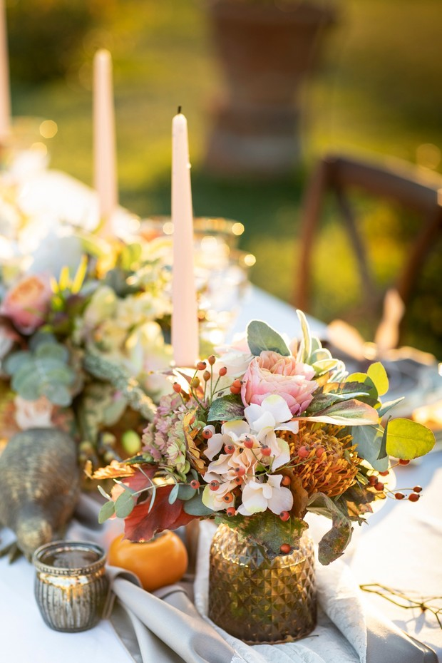 harvest wedding table