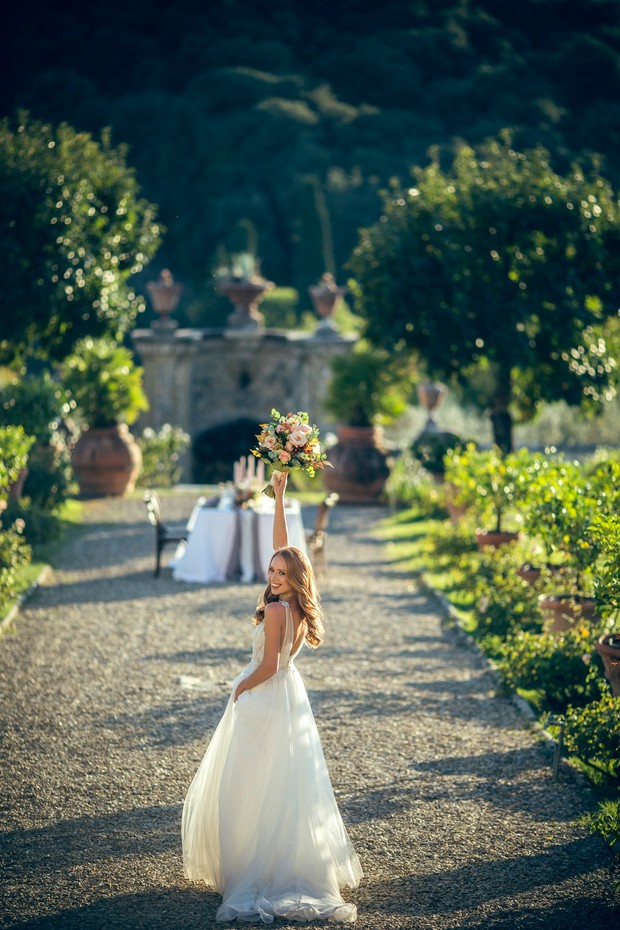 Bridal shoot in Tuscany