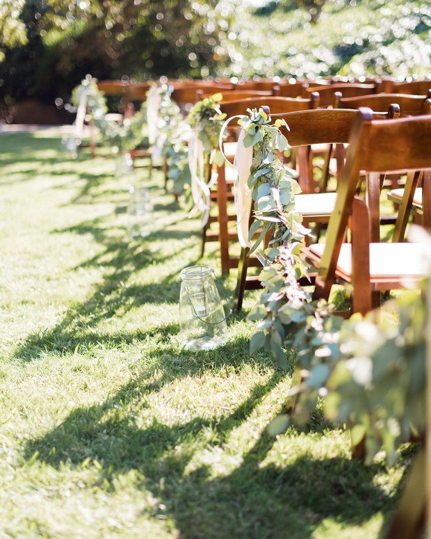 outdoor wedding ceremony aisle