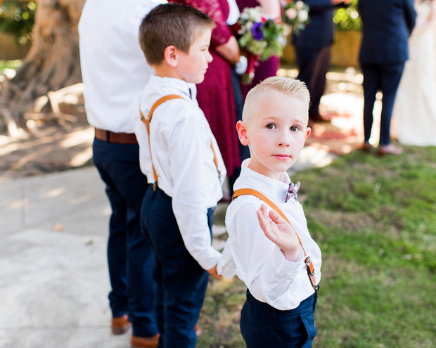 ring bearers in suspenders