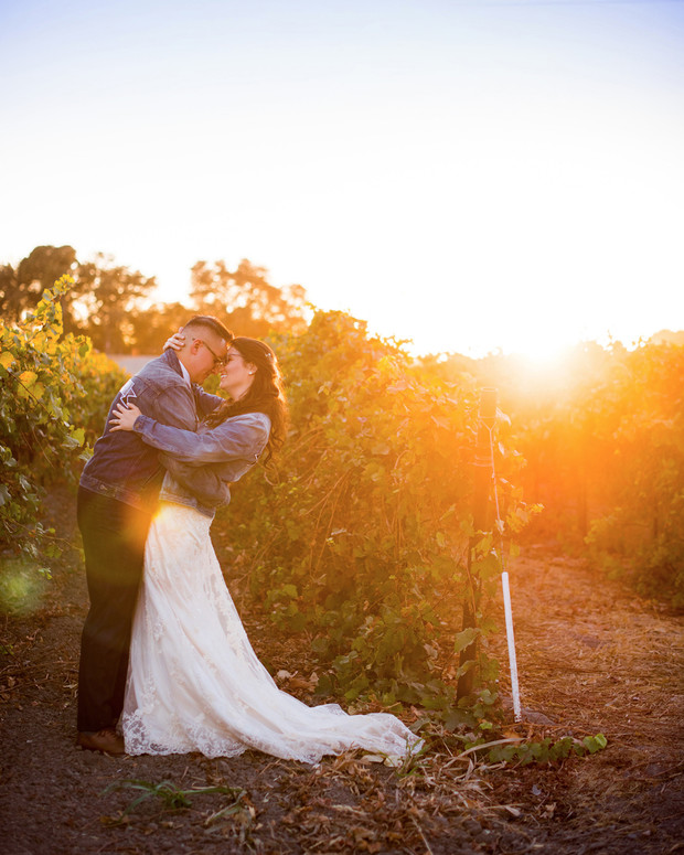 sweet sunset wedding portraits