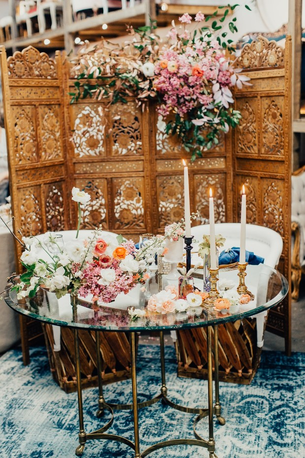 boho sweetheart table lounge