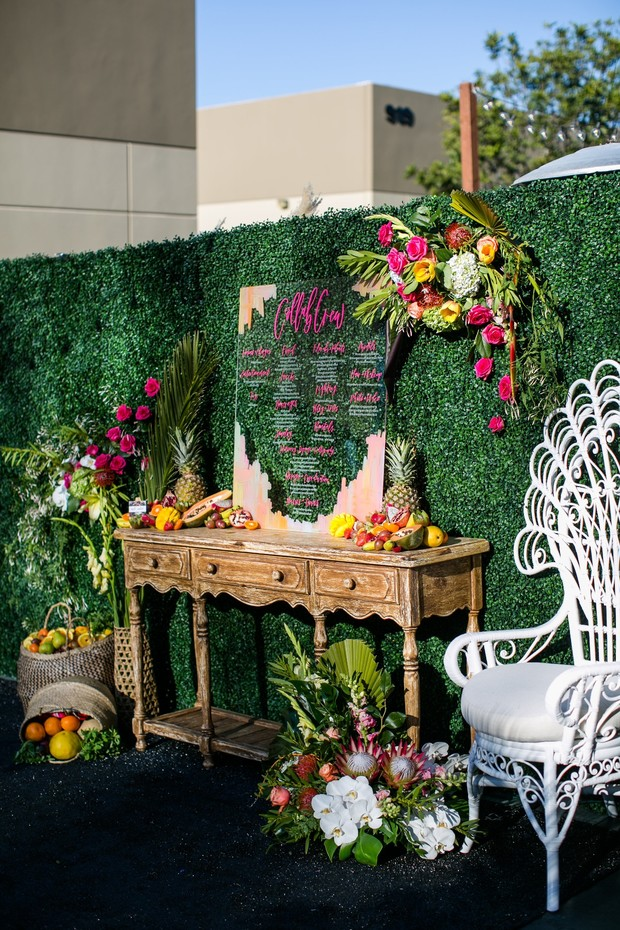 tropical wedding lounge design
