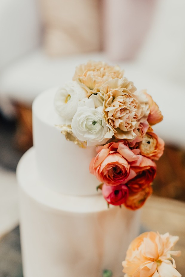 flower wedding cake topper