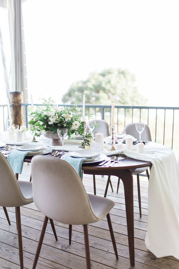 simple modern reception table