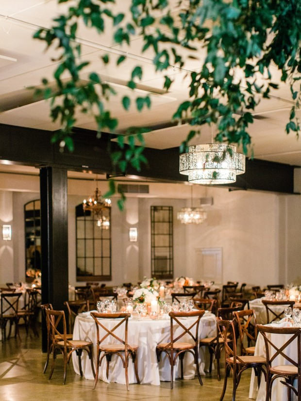 glamorous wedding reception space
