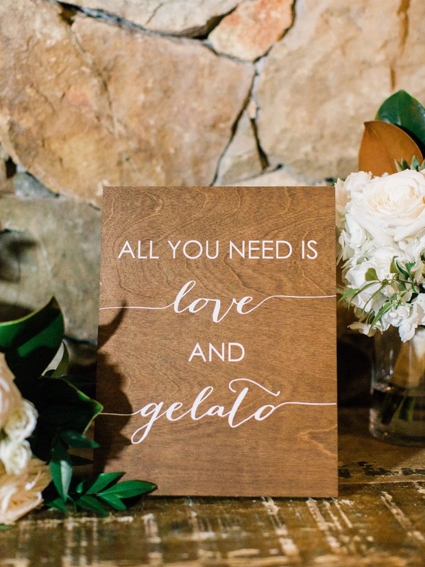 all you need is love wedding sign