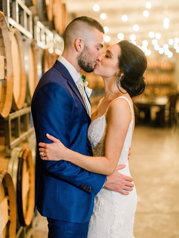 A White Winery Wedding With A Hint Of Copper