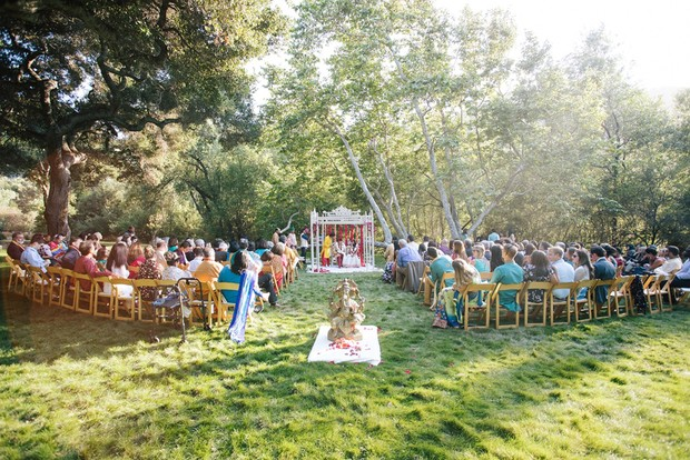 outdoor traditional Indian wedding ceremony