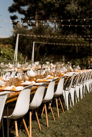 boho california wedding reception