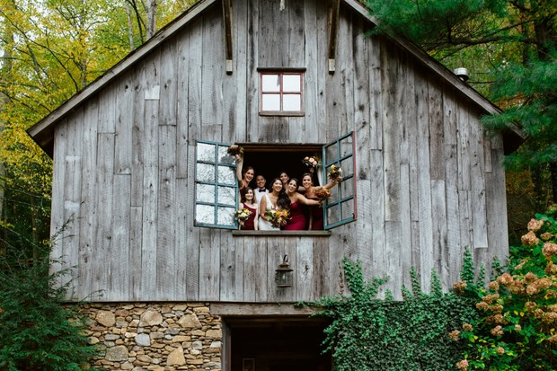 Rustic barn fall wedding