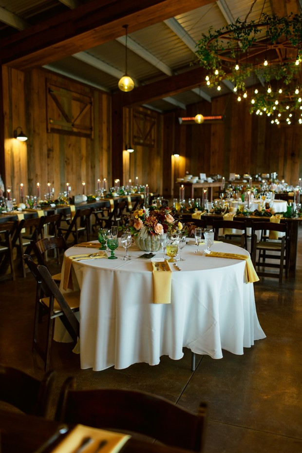 yellow fall wedding decor