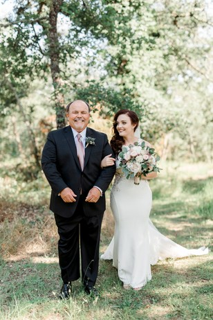 sweet bride and father of the bride