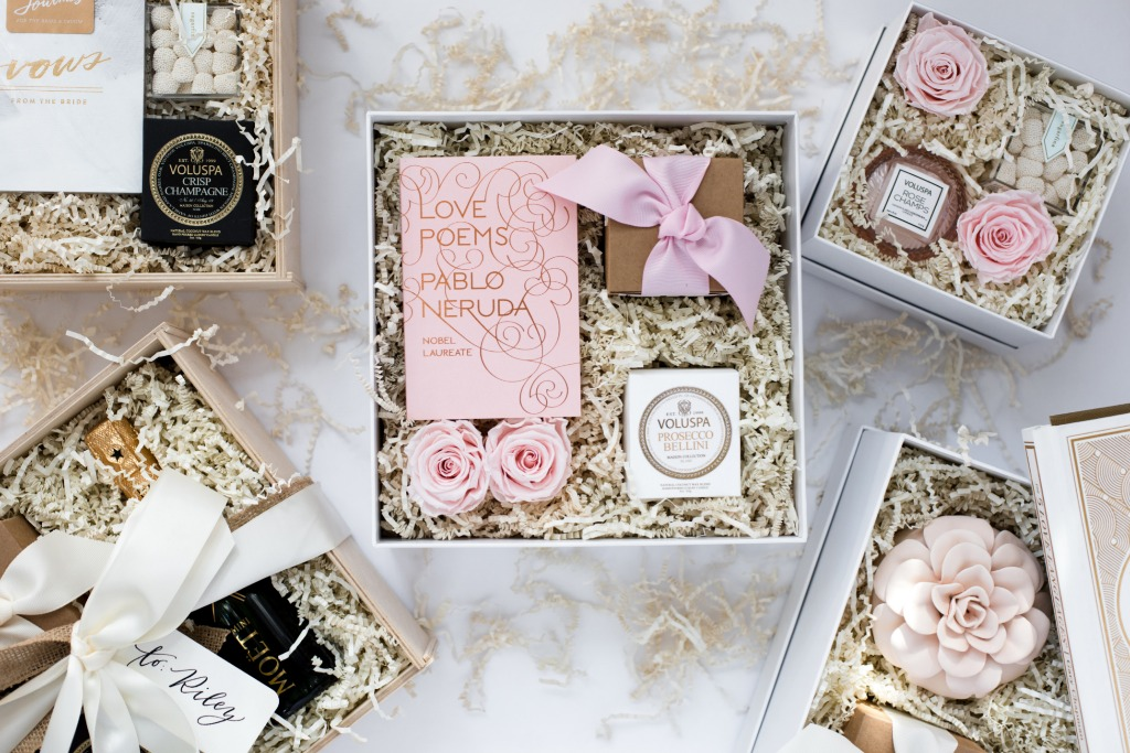 Elegant and meaningful wedding gifts for the bride and bridesmaids.