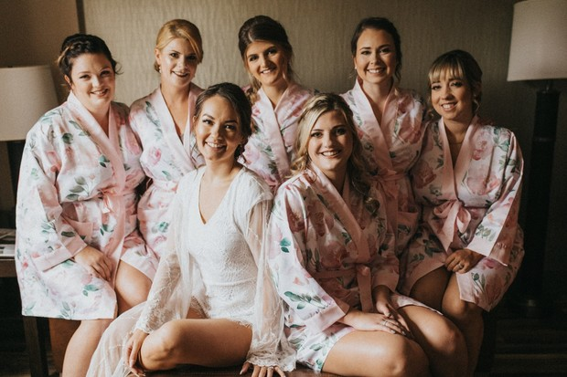 fun floral getting ready robes