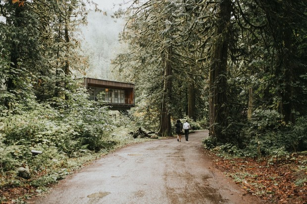 wedding venue out in the woods