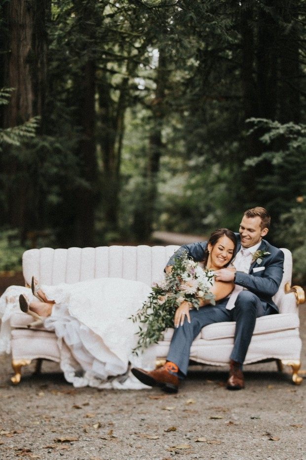 An Elegant Little Romance Wedding In The Woods