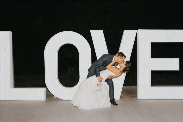 DIY giant love marquee sign