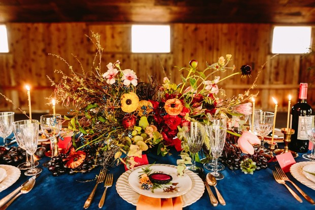 wild flower inspired wedding centerpiece for the fall