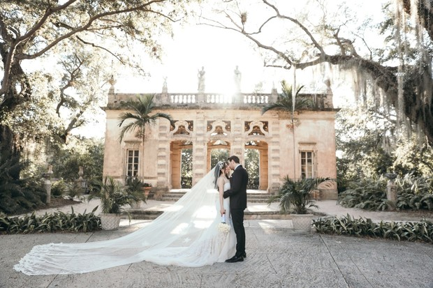luxury wedding at Vizcaya Museum and Gardens