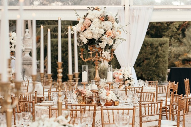 Gold and white reception
