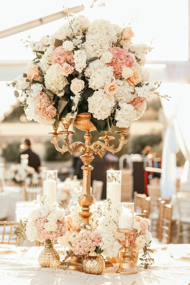 luxury wedding centerpiece