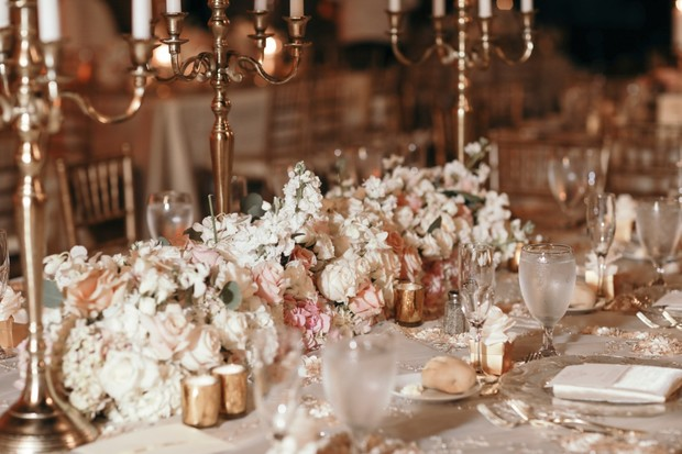 floral wedding centerpiece
