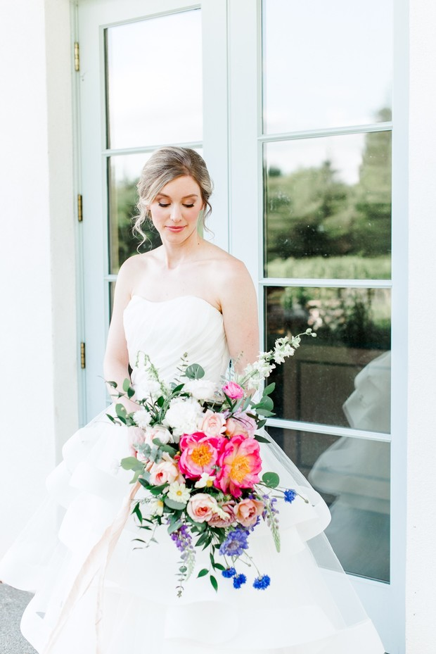 soft garden bridal look