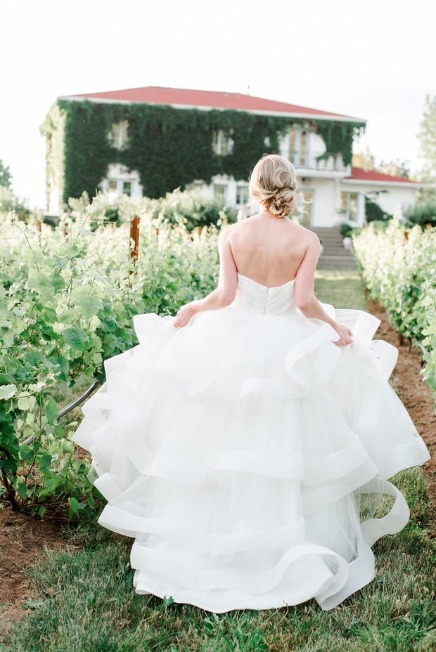 Flowing wedding dress from Brides for a Cause