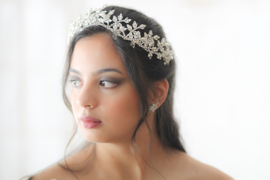 Handcrafted leaf bridal tiara crown I created using vintage tooled leaf stampings soldered together so it lasts you a life time and