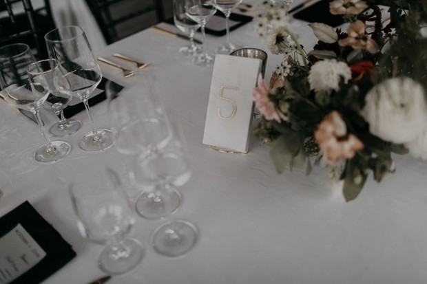 wedding marble table number