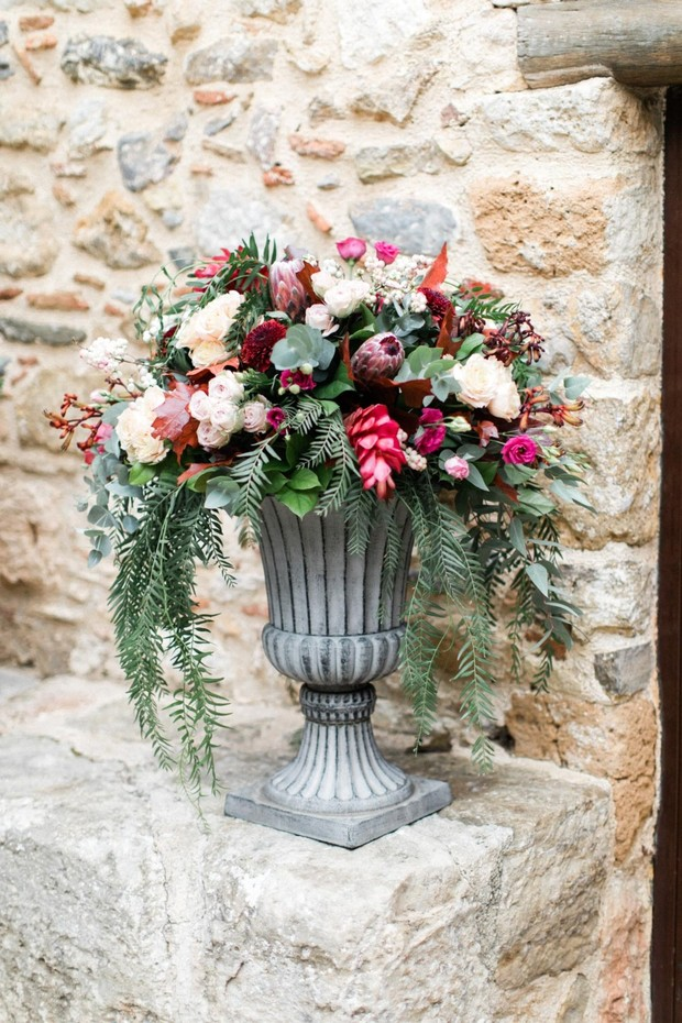 burgundy and peach wedding flowers