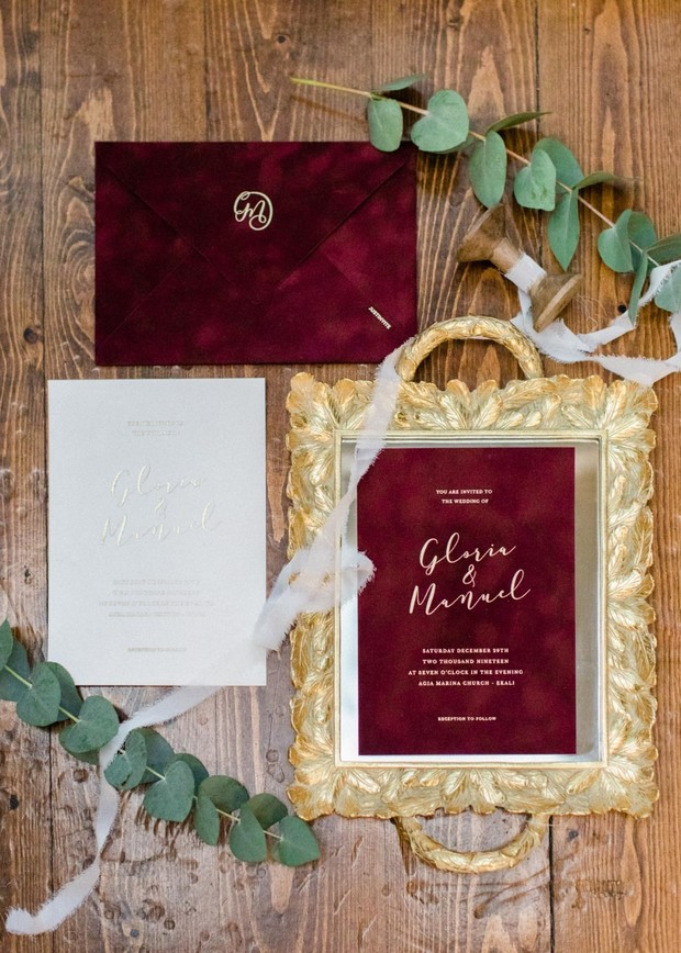 red velvet wedding invitations