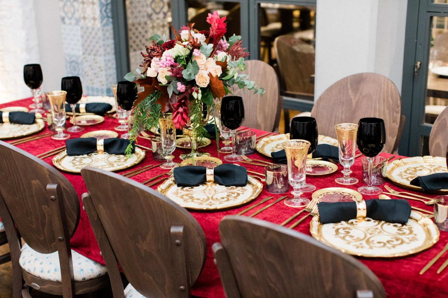 Royal Red And Gold Wedding Ideas In Athens