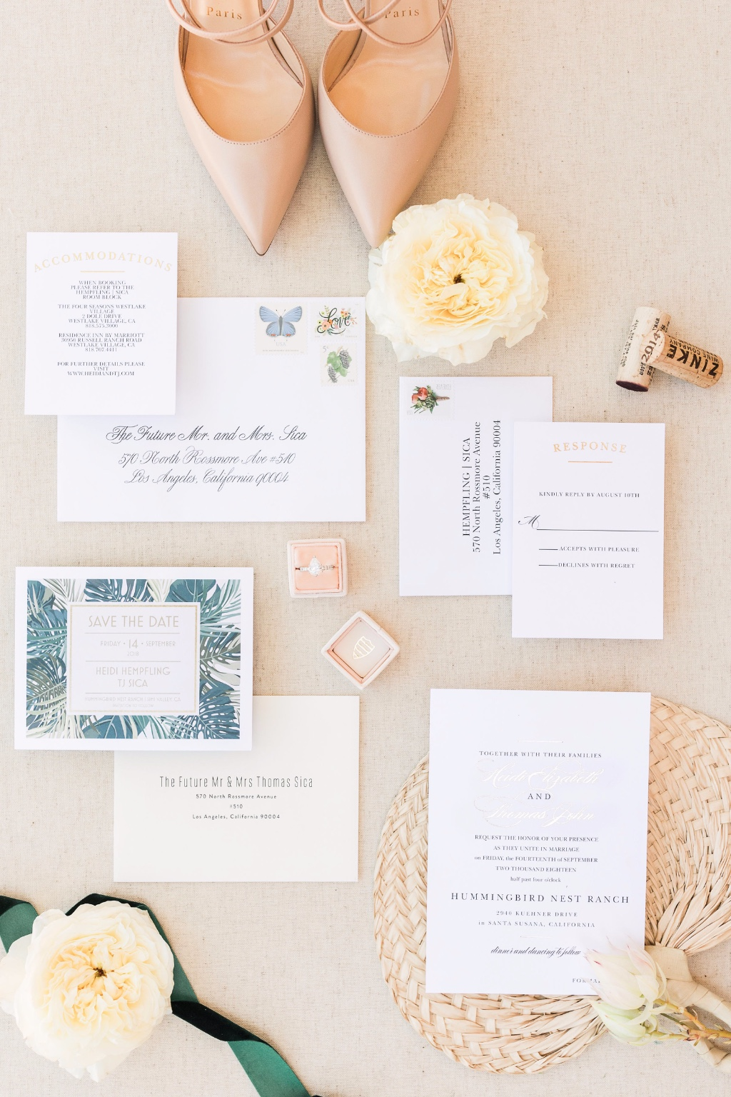 Our Elegant Vintage Foil Portrait Wedding invitation and Response cards add a perfect touch of elegance to any destination wedding