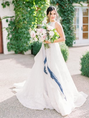 elegant summer time bride look