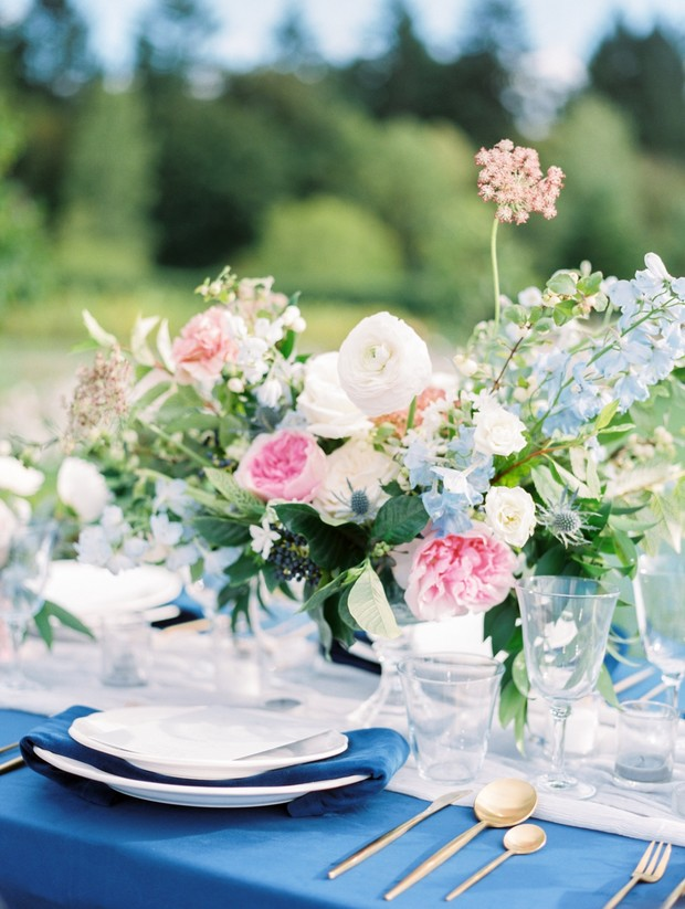 springtime wedding table decor
