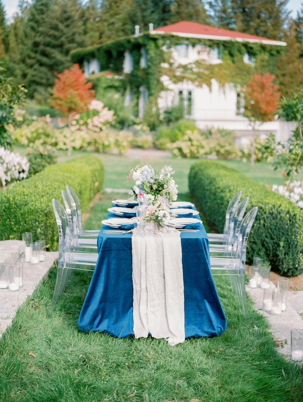 european style garden wedding reception