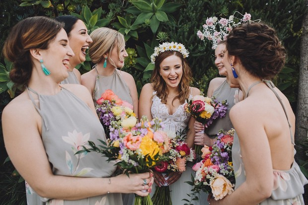cute candid wedding party photo